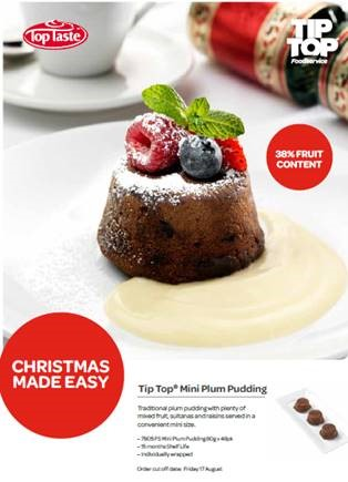 Pre-orders for Top Taste Mini Plum Puddings | CCI Group